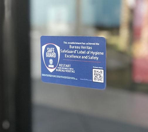 Bureau Veritas Safeguard™ Certification signage