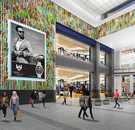 rendering of Fashion District Philadelphia interior