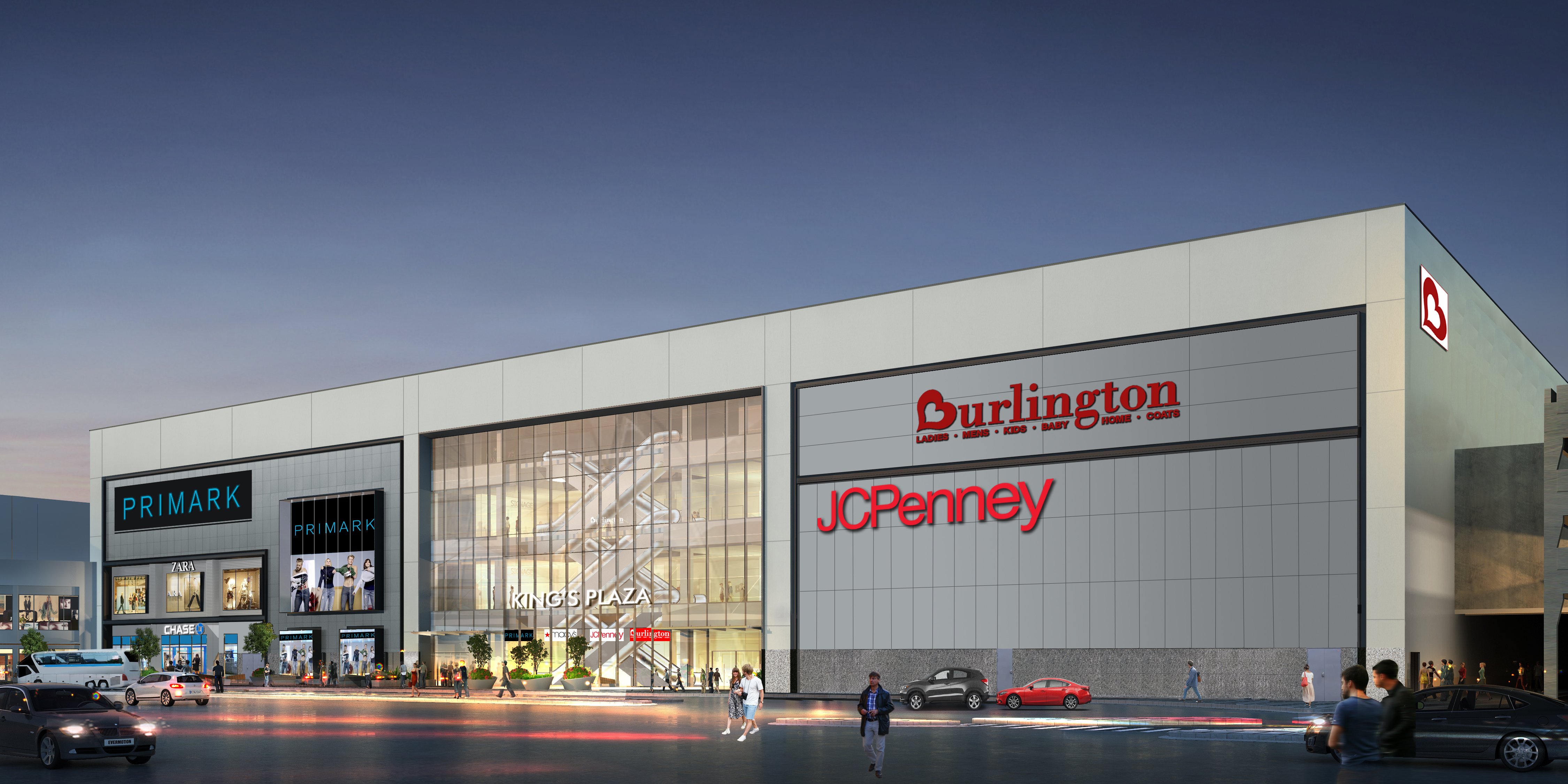 Rendering of the Kings Plaza Flatbush Ave facade