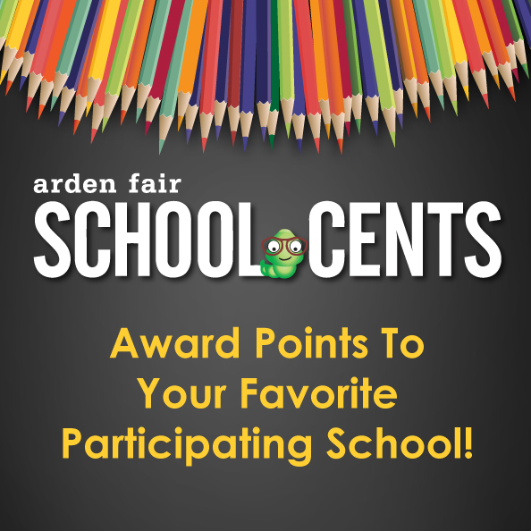 "School Cents Program - logo with pencils and ""School Cents Worm"". Copy: ""School Cents. Award points to your favorite participating school!"""