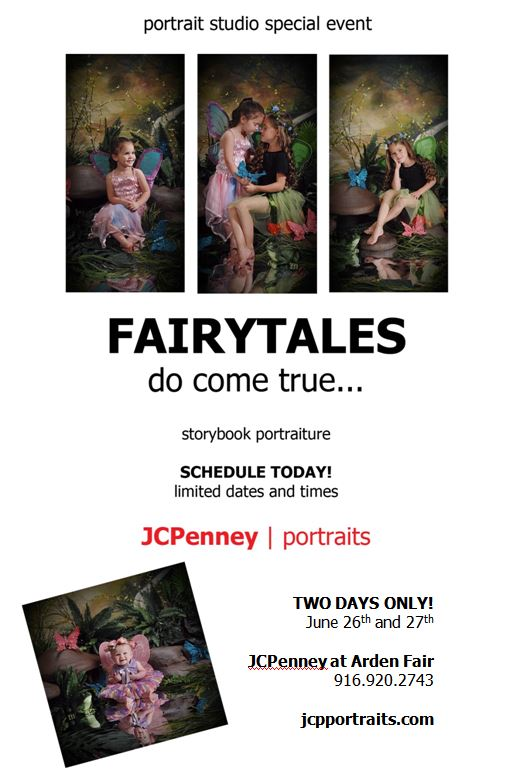 JCPenney Portrait Studio, photo and details for Storybook Portraiture themed (butterflies, fairies, plants.)
