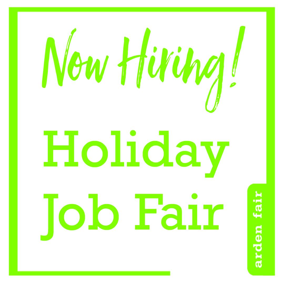 """Now Hiring! Holiday Job Fair"""