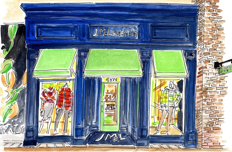 J. McLaughlin storefront drawing