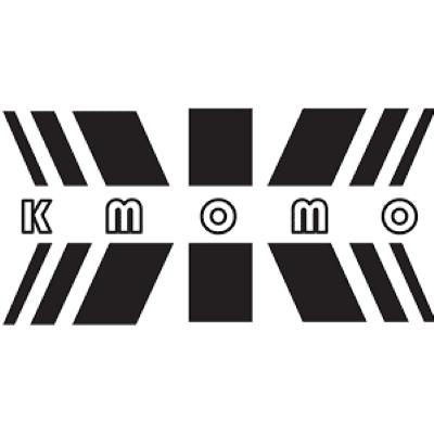 K MOMO letters black and white