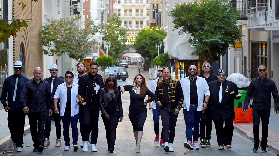Members of Foreverland walking the streets of San Francisco.
