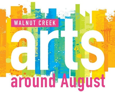 Walnut Creek arts around August, with colorful background.