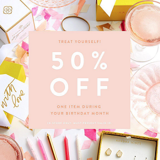 Kendra Scott Birthday Discount with jewelry in background.