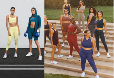 Woman of all shapes and sizes getting ready to work out.