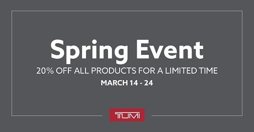 TUMI Spring Event