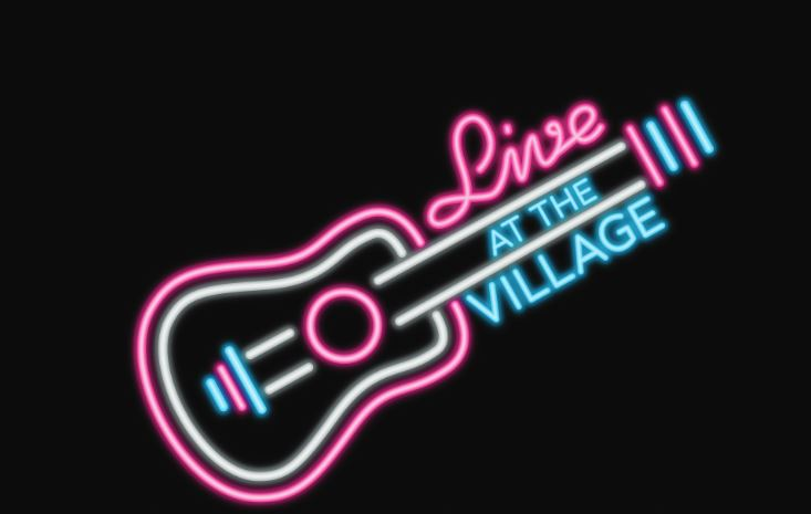 Live at the VIllage logo letters on black background