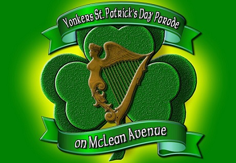 Logo of McLean Avenue St. Patrick's Day Parade on March 23, 2019.