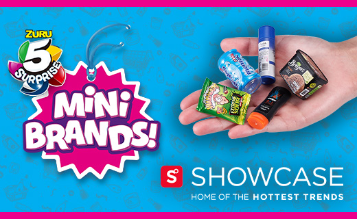 ZURU 5 mini brands in a hand