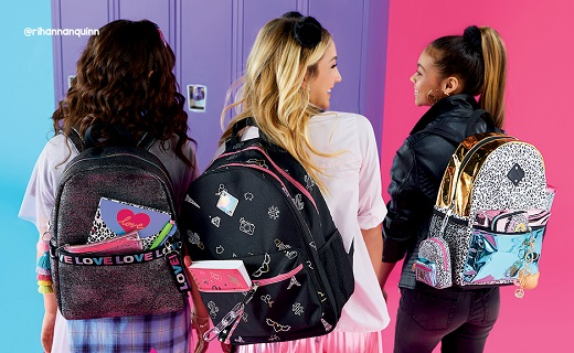 3 girls with backpacks