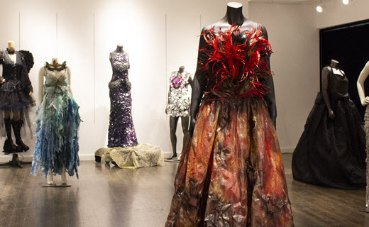 Up-cycled fashion dresses