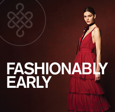 Fashionably Early, Model in a red dress