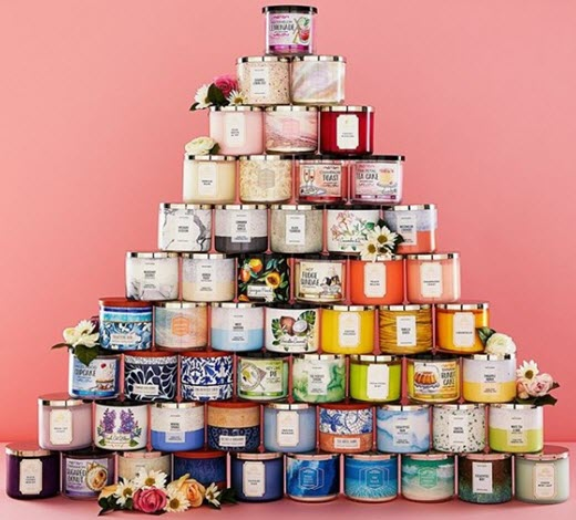 Bath & Body Works stacked candles