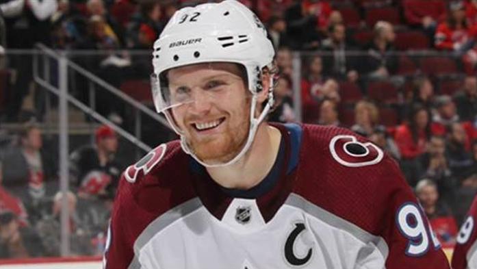 hockey player smiling