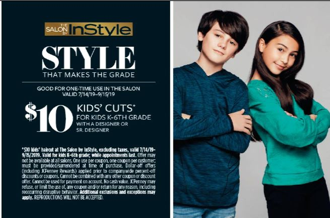 jcpenney coupon for kids haircuts