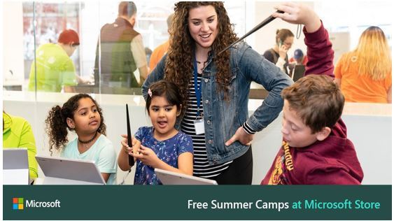 Microsoft Free Summer Camps for Children