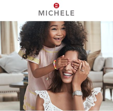Mother and daughter with the new Michele watches available.
