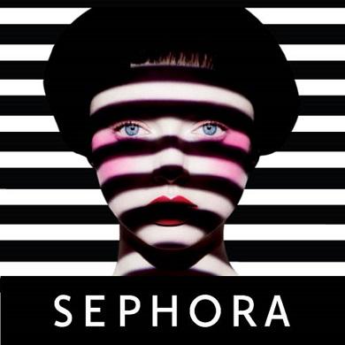 Sephora lady with black stripes