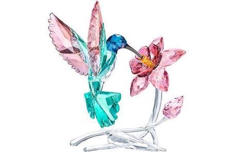 new swarovski glass humming bird