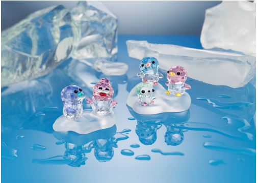 crystal penguins from Swarovski