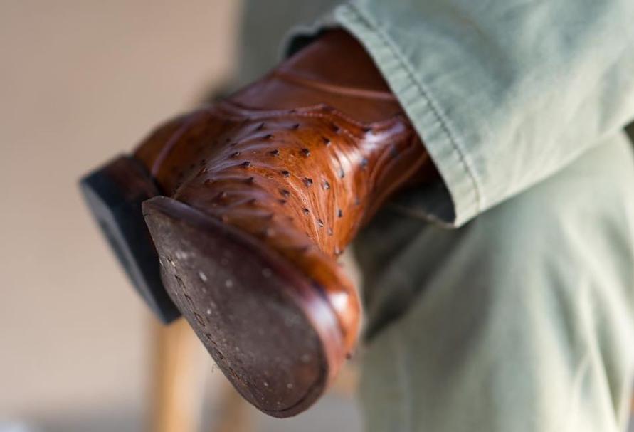 Tecovas ostrich boot