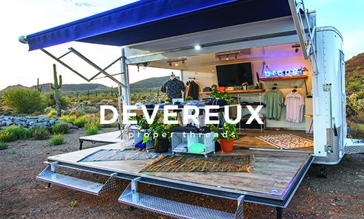 Devereux pop-up trailer in desert