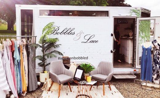 Bobbles & Lace Fashion Trailer setup