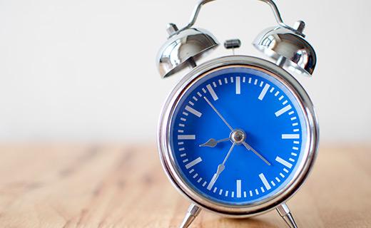 Round Blue Face Alarm Clock