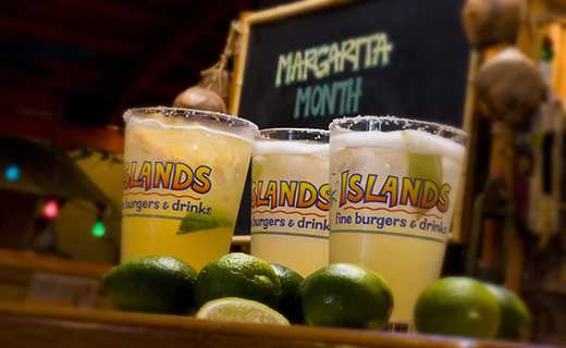 $2 off Margaritas at Islands Restaurants during the month of May.