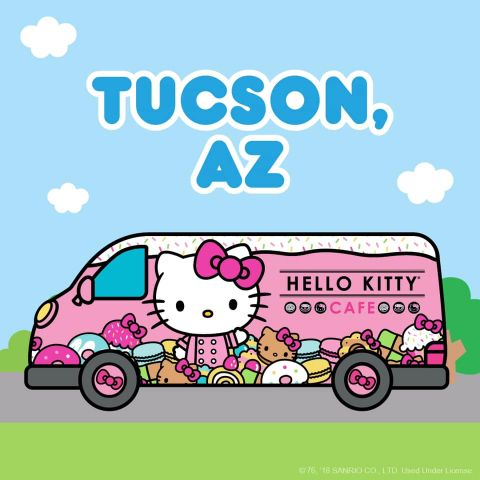 Hello Kitty truck, pink, cute