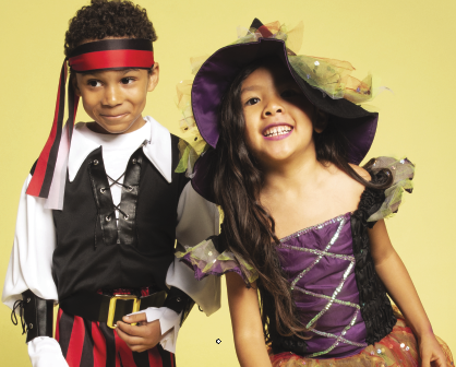 pirate, witch, Halloween, trick or treat