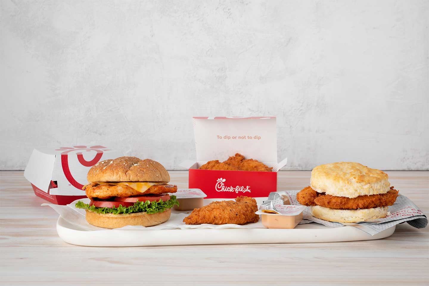 Chick-fil-A sandwiches and chicken box