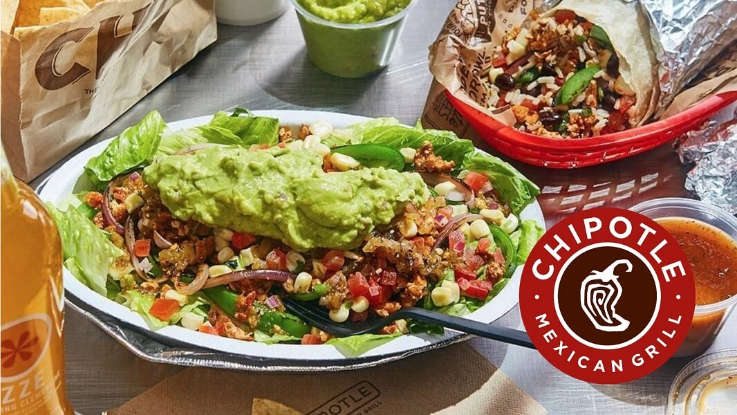 Chiopotle meal with Chipotle logo