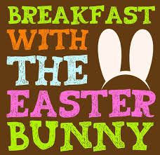 Breakfast with the Easter Bunny with pink bunny ears