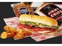 Jimmy John's sandwich, chips, cookie
