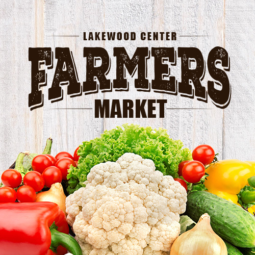 Lakewood Center Farmers Market with vegetables