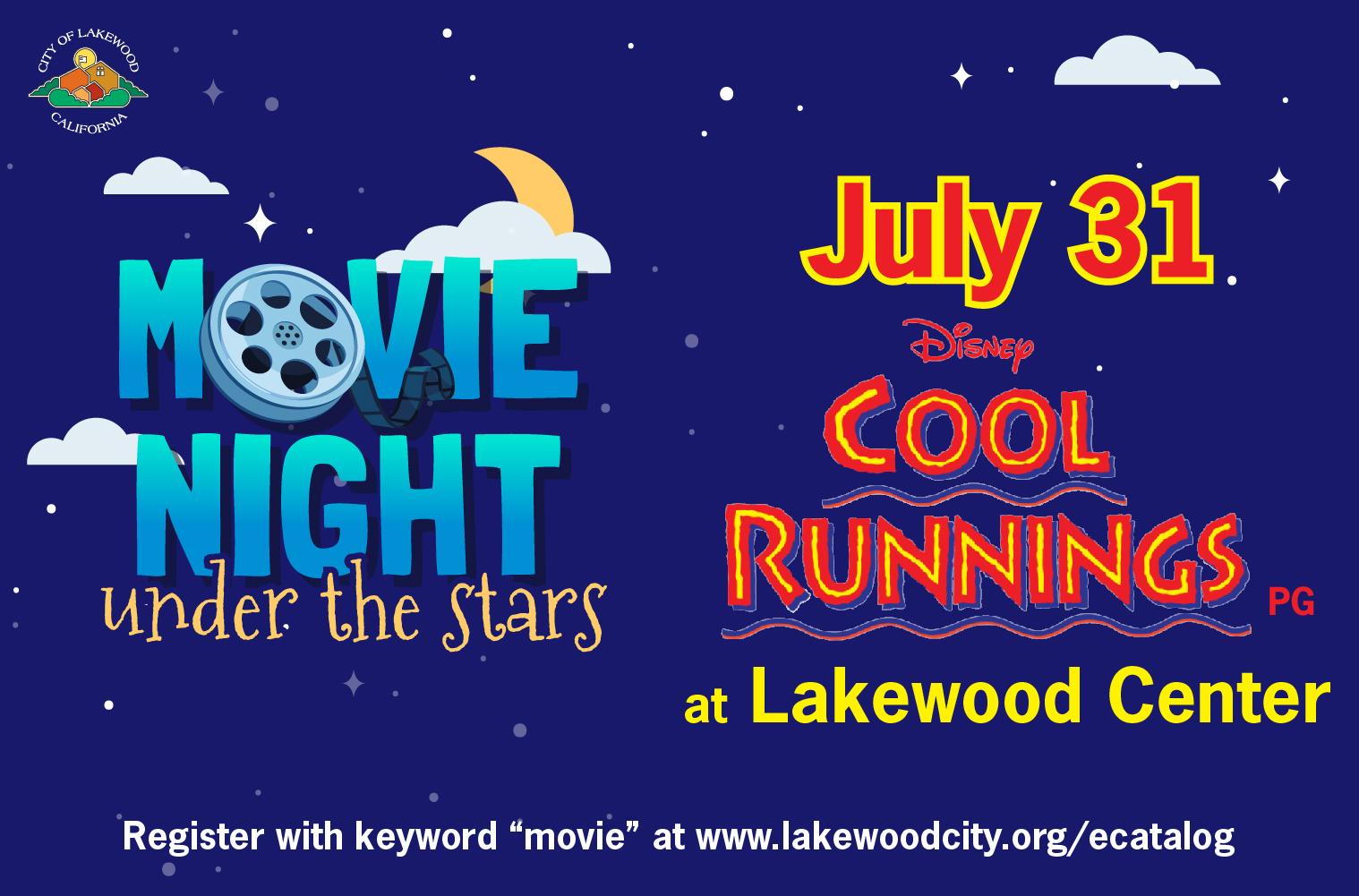 movie night under the stars flyer cool runnings