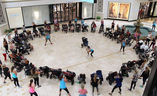 Fit4Mom exercise group at The oaks