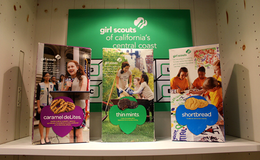 picture of 3 boxes of girl scout cookies
