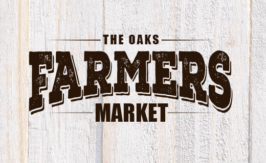 Farmer Market logo on wood plank background