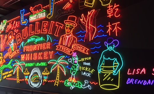 neon signage at Grand Central Market, downtown los angeles