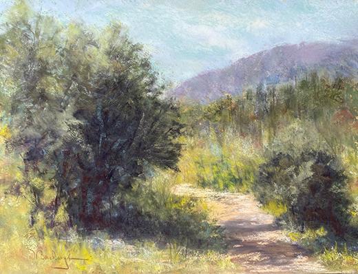 Familiar Hike painting in Plein-Air technique