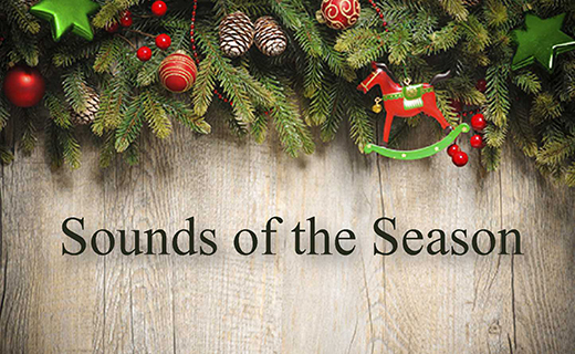Sounds of the Season with holiday decor