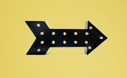 Lighted arrow symbol