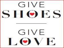 Give Shoes. Give Love. Photo for Brighton Soles 4 Souls Shoe Drive.