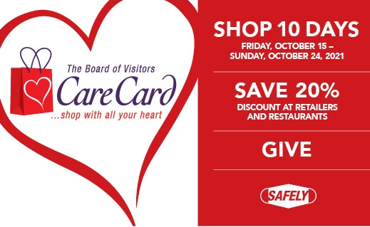 Care Card and a shopping bag with a heart around it .