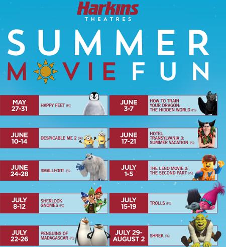 Summer Movie Fun at Harkins